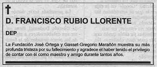 Francisco Rubio Llorente
