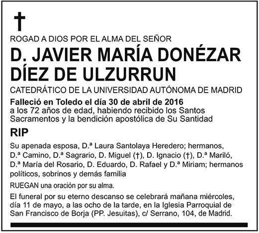 Javier María Donézar Díez de Ulzurrun