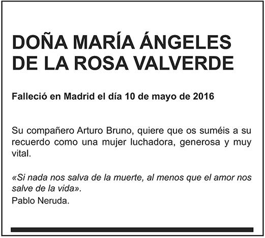 María Ángeles de la Rosa Valverde