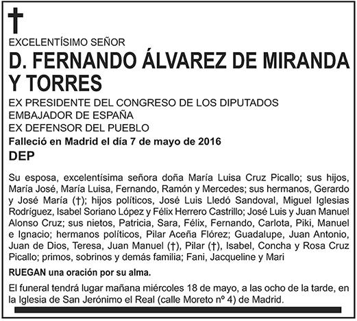 Fernando Álvarez de Miranda y Torres