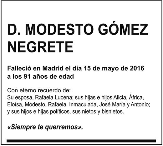 Modesto Gómez Negrete
