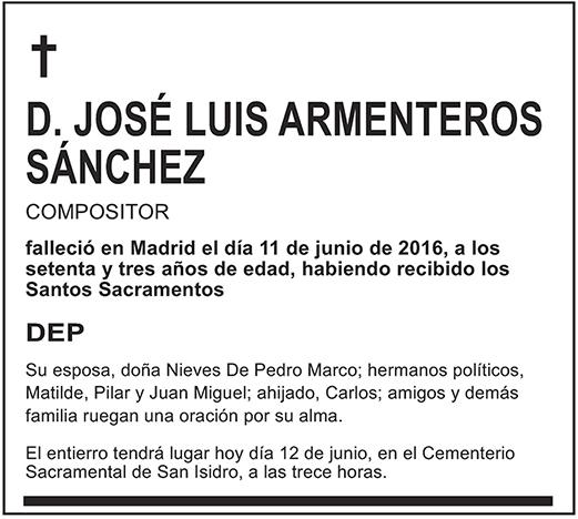 José Luis Armenteros Sánchez