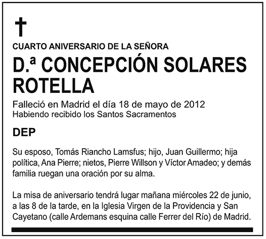 Concepción Solares Rotella