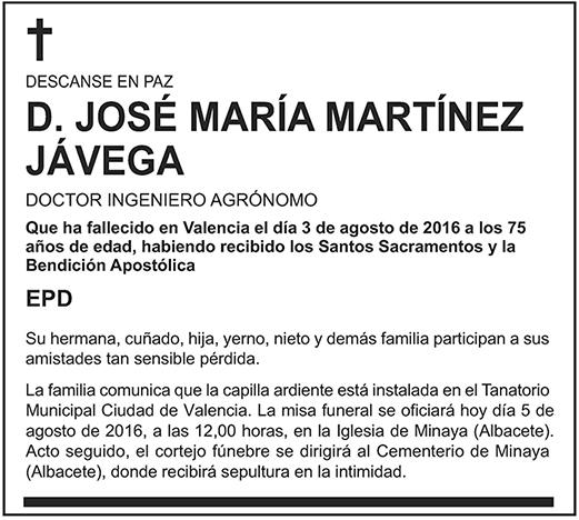 José María Martínez Jávega