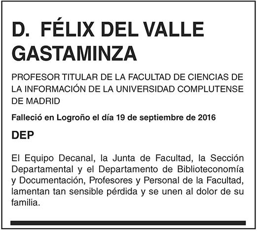 Félix del Valle Gastaminza