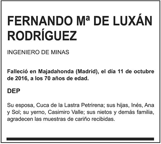Fernando Mª de Luxán Rodríguez