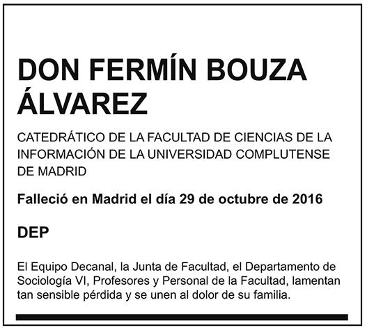 Fermín Bouza Álvarez