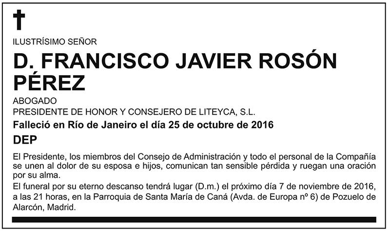 Francisco Javier Rosón Pérez