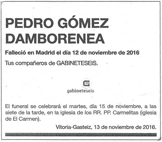 Pedro Gómez Damborenea