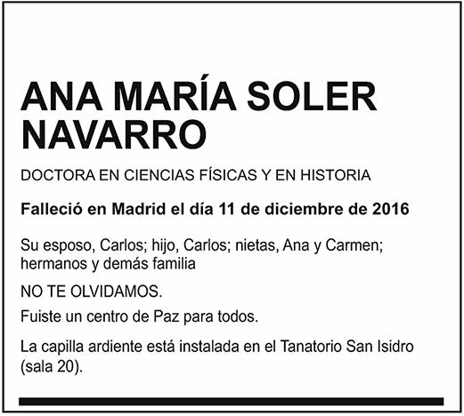 Ana María Soler Navarro