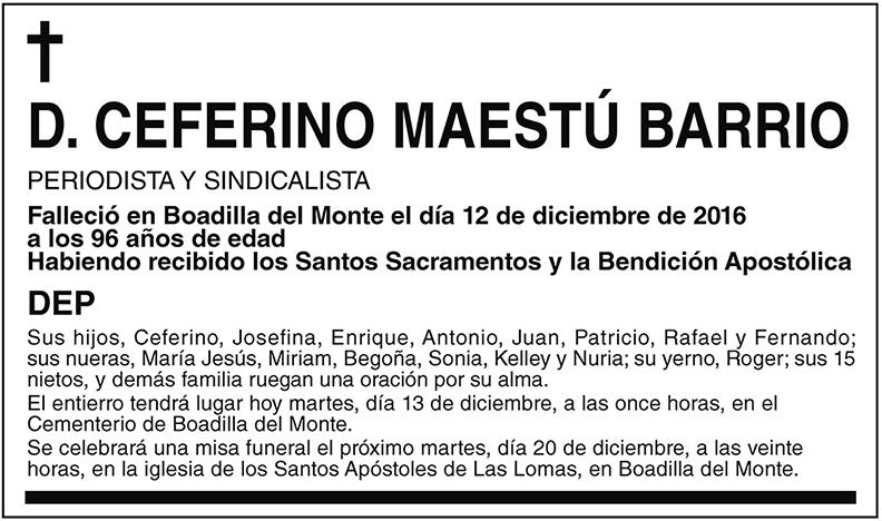 Ceferino Maestú Barrio