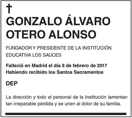 Gonzalo Álvaro Otero Alonso
