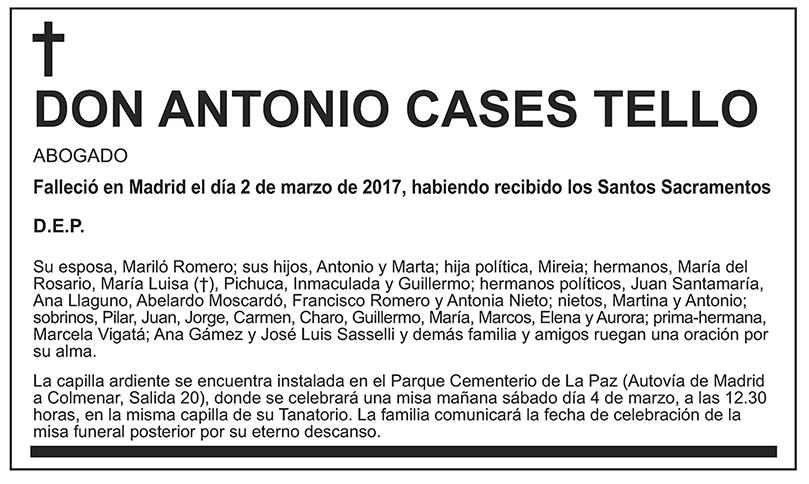 Antonio Cases Tello