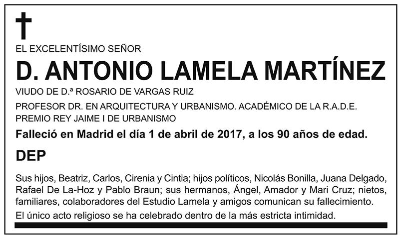 Antonio Lamela Martínez