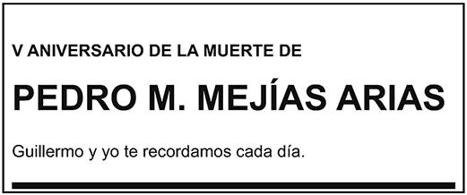 Pedro M. Mejías Arias
