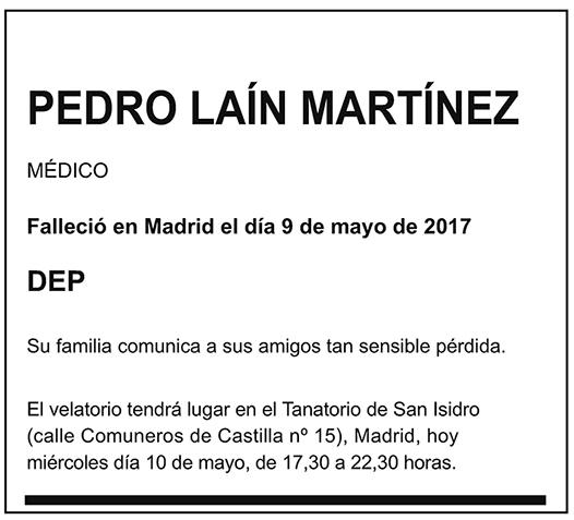 Pedro Laín Martínez