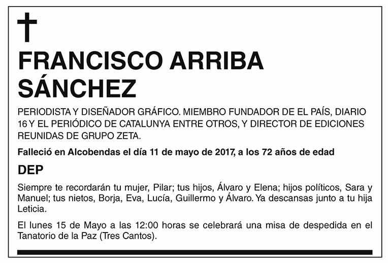 Francisco Arriba Sánchez