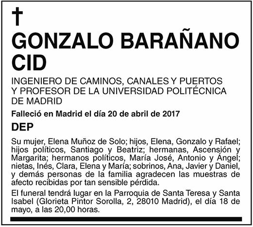 Gonzalo Barañano Cid