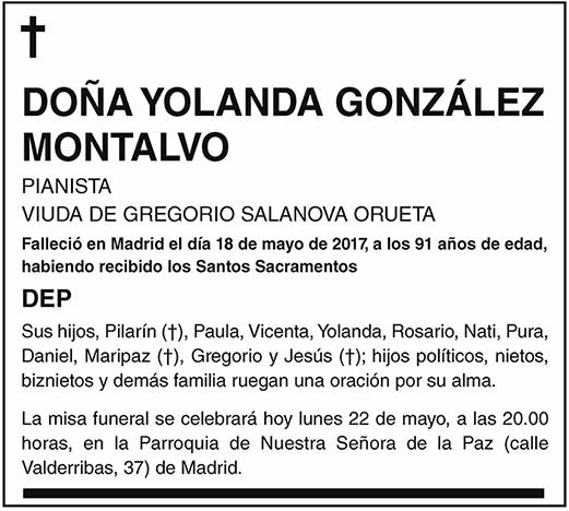Yolanda González Montalvo