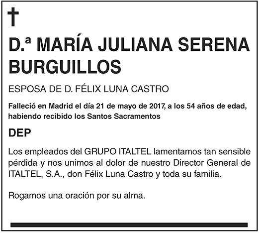 María Juliana Serena Burguillos