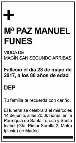 Mª Paz Manuel Funes