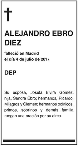 Alejandro Ebro Diez