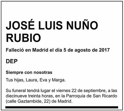 José Luis Nuño Rubio
